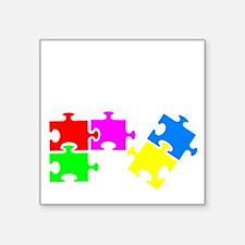 "autismSup1B Square Sticker 3"" x 3"""
