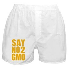 SayNo2GMO_orange Boxer Shorts