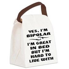 wht_bipolar_great_bed Canvas Lunch Bag