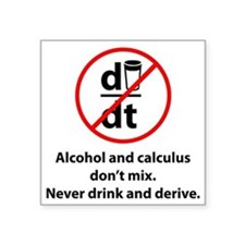 "drinkDerive1A Square Sticker 3"" x 3"""