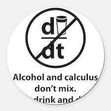 drinkDerive1C Round Car Magnet