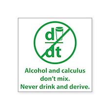 "drinkDerive1D Square Sticker 3"" x 3"""
