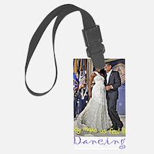Dancing Obamas Luggage Tag