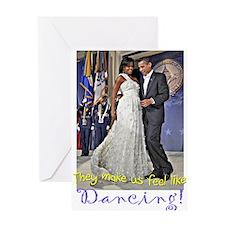 Dancing Obamas Greeting Card