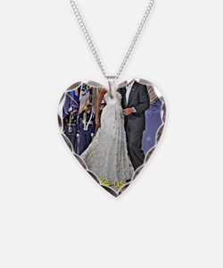 Dancing Obamas Necklace Heart Charm