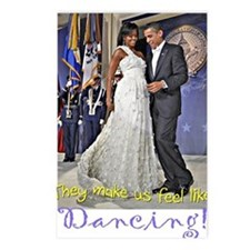 Dancing Obamas Postcards (Package of 8)
