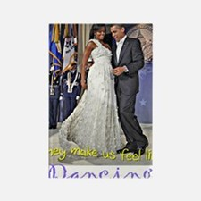 Dancing Obamas Rectangle Magnet