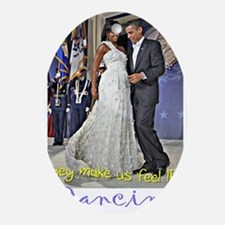 Dancing Obamas Oval Ornament