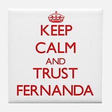 Keep Calm and TRUST Fernanda Tile Coaster