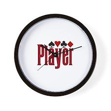 Poker Player Wall Clock