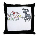 Candy-A$$ Throw Pillow