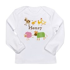 Customized Farm Animals Long Sleeve Infant T-Shirt