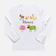 Customized Farm Animals Long Sleeve Infant T-Shirt
