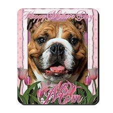PinkTulipsBulldogDkMOM_5x7_V Mousepad