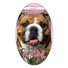 PinkTulipsBulldogDk_5x7_V Decal