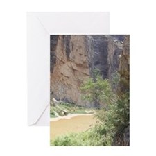 Santa Elena Canyon  Greeting Card