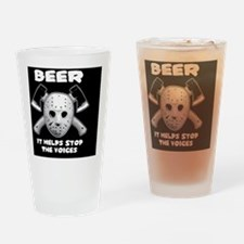 beer stop voices ovalstkr Drinking Glass