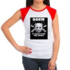 beer stops the voices t Women's Cap Sleeve T-Shirt