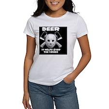beer stops voices clock Tee