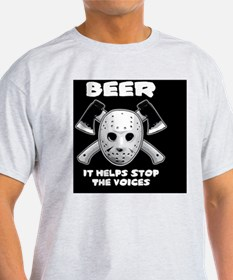 beer stops voices clock T-Shirt