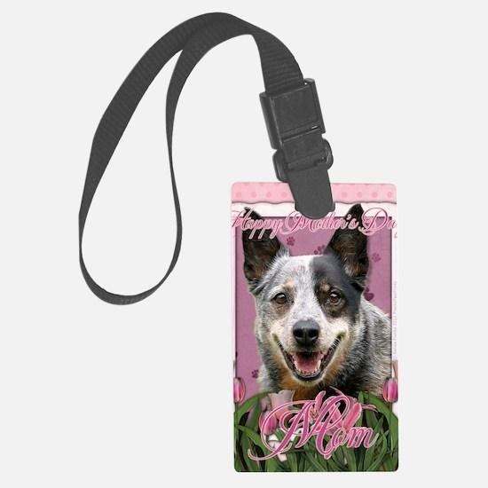 PinkTulipsAustralianCattleDogMOM Luggage Tag