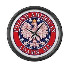Adams Massachusetts Polish Large Wall Clock