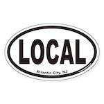 Atlantic City NJ LOCAL Euro Oval Sticker