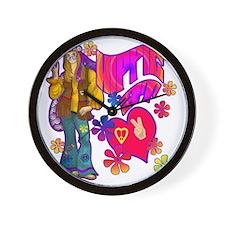 HIPPIE-AT-HEART-TEE Wall Clock