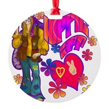 HIPPIE-AT-HEART-TEE Ornament