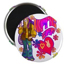 HIPPIE-AT-HEART-TEE Magnet