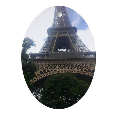 Eiffel Tower Oval Ornament