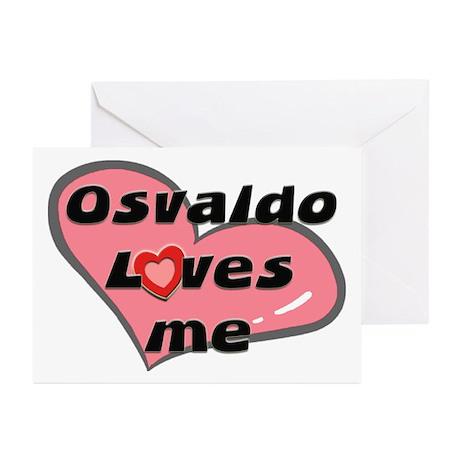 osvaldo loves me Greeting Cards (Pk of 10)