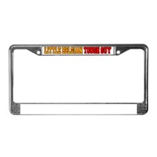 Little Belgian Tough Guy License Plate Frame