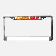 Little Belgian Tough Guy License Plate Frame