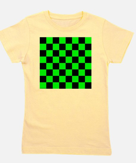 throwpillowgrncheckerboardpng Girl's Tee