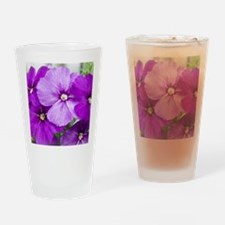 violets Drinking Glass