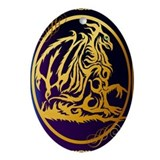 Gold dragons Oval Ornaments