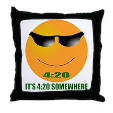 4:20 CAP Throw Pillow