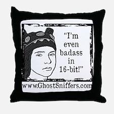 Faith Forge Badass in 16-bit Throw Pillow