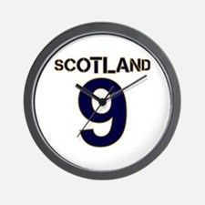 Scotland gold navy number 9_2000 Wall Clock
