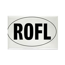 Oval-ROFL Rectangle Magnet