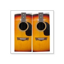 "FlipFlops-Guitar Square Sticker 3"" x 3"""