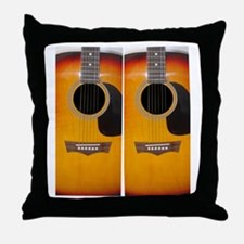 FlipFlops-Guitar Throw Pillow
