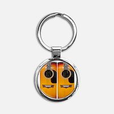 FlipFlops-Guitar Round Keychain