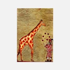 The Giraffe and the Juggler Rectangle Magnet