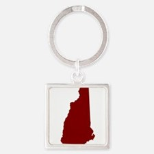 NHred Square Keychain