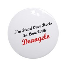 In Love with Deangelo Ornament (Round)