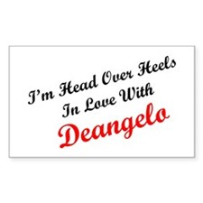 In Love with Deangelo Rectangle Decal