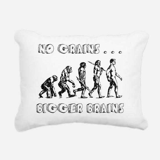 no grains bigger brains  Rectangular Canvas Pillow