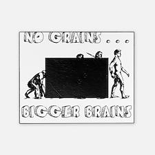 no grains bigger brains evolution bl Picture Frame